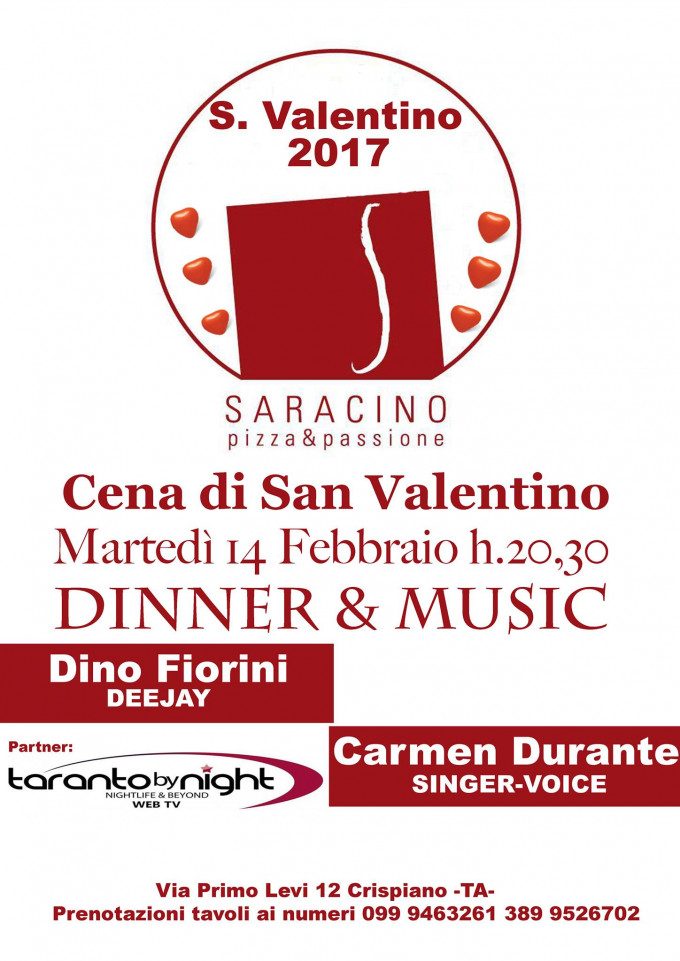 San valentino 2017 speciale 14 02 2017 taranto for San valentino 2017 milano